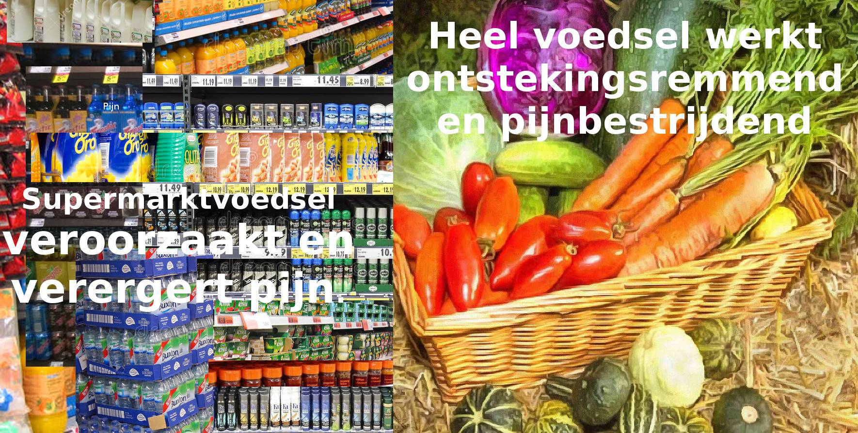 supermarktvoeding vs hele voewding